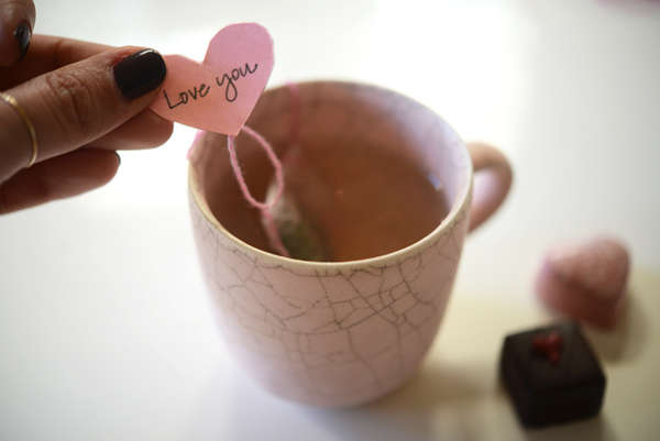 DIY Tea Bags for Valentine's Day
