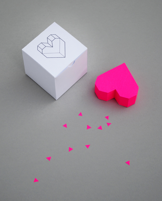 DIY 3D Hearts for Valentine's Day