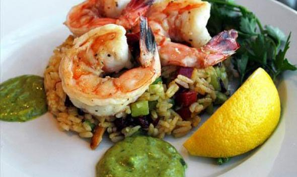 Curry Rice Salad with Shrimp