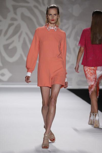 Monique Lhuillier Spring 2014 New York Fashion Week