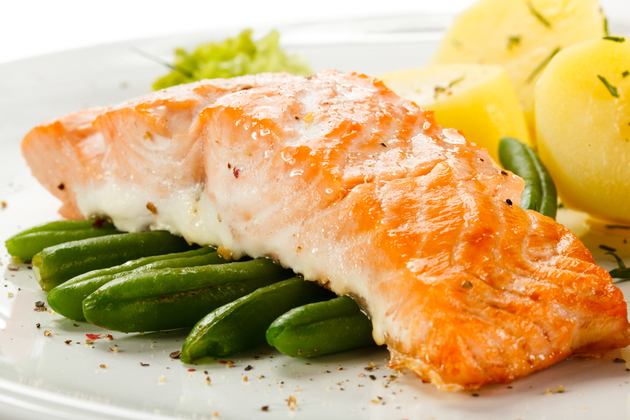 Salmon for muscle building
